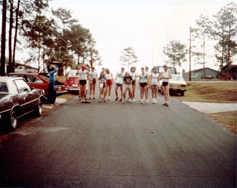First shot from the 1982 annual Christmas Eve Run to Posey's. Back then, we started at Linda and Steve Meade's house. That made the run ~1M farther. And there was no St. Marks Trail.