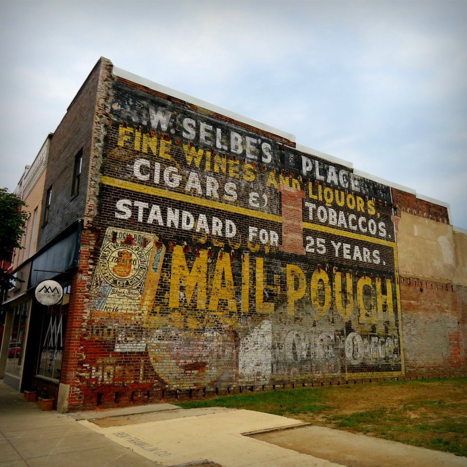 mail pouch tobacco ghost sign point pleasant west virginia