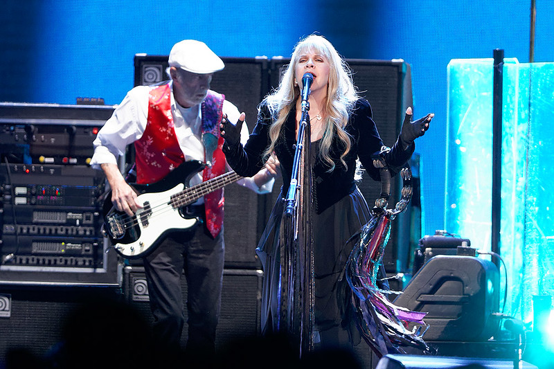. John McVie (left) plays bass guitar while Stevie Nicks sings with Fleetwood Mac on Wednesday, Oct. 22, 2014, at The Palace of Auburn Hills. Photo by Ken Settle-Special to The Oakland Press
