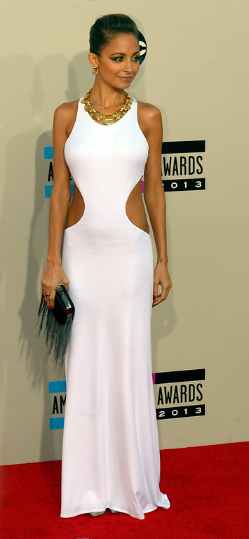 . Nicole Richie arrives to the American Music Awards  at the Nokia Theatre in Los Angeles, California on Sunday November 24, 2013 (Photo by Andy Holzman / Los Angeles Daily News)