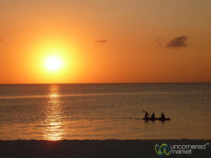 Canoe At Sunset - Kendwa, Zanzibar