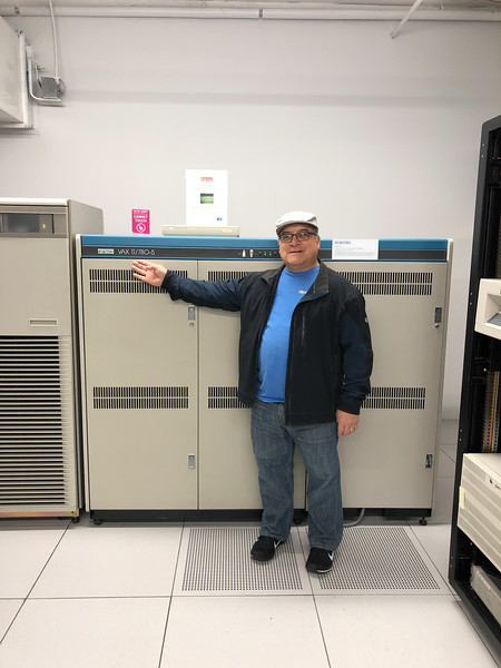 Rick, Wendy, Ronna and Donna toured Seattle's Living Computer Museum + Labs. Rick is standing next to the same model computer he used early in his career. Visit https://livingcomputers.org for more info.