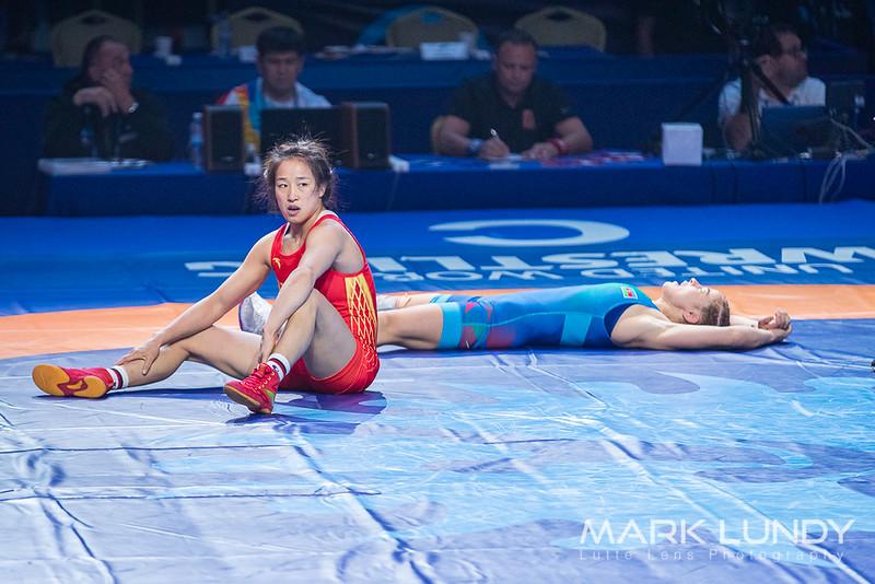 Semifinal Mariya STADNIK (AZE) df. Yanan SUN (CHN)  6-4 - 2019 World Championships