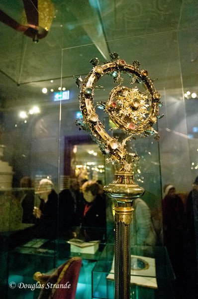 Jeweled golden scepter at Melk Abbey