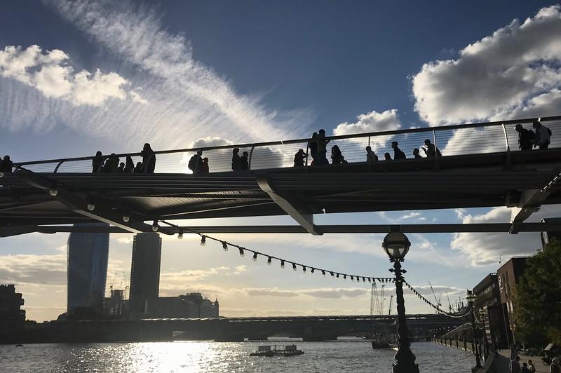 The Millennium Bridge over the Thames