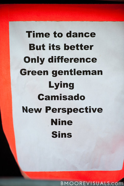 Set list for Panic! At The Disco's performance on May 28, 2011 during 97X Backyard BBQ at Vinoy Park in St. Petersburg, Florida