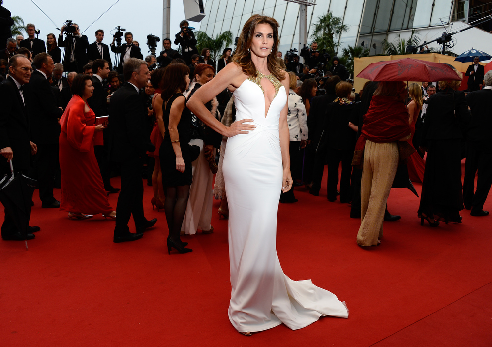 . Cindy Crawford attends the Opening Ceremony and \'The Great Gatsby\' Premiere during the 66th Annual Cannes Film Festival at the Theatre Lumiere on May 15, 2013 in Cannes, France.  (Photo by Pascal Le Segretain/Getty Images)