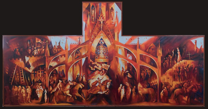 """Joan of Arc"" (oil on canvas) by Natalia Vitkovskaya"