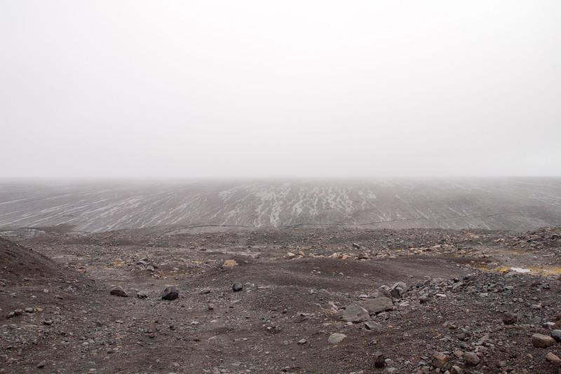 This is the base of the  EyjabakkaJokull Glacier.   The photo has no sense of scale