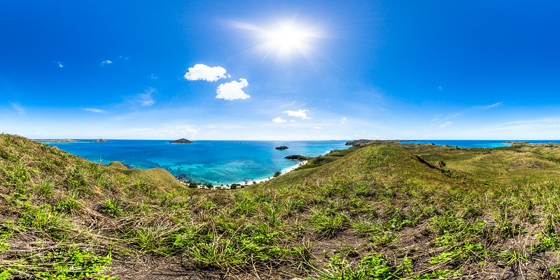 Lookout to Paradise Beach - Yasawa - Fiji Islands