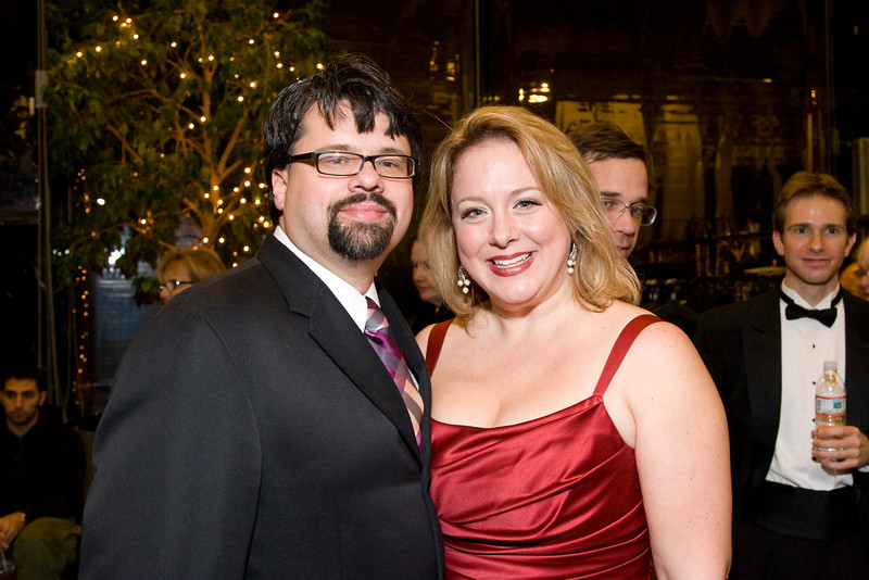 Mark Hardy and Lori Hultgren. (He is Conductor of the Johns Hopkins Choral Society and she was the soprano soloist in Beethoven 9.) -- HSO 25th anniversary post-concert Gala