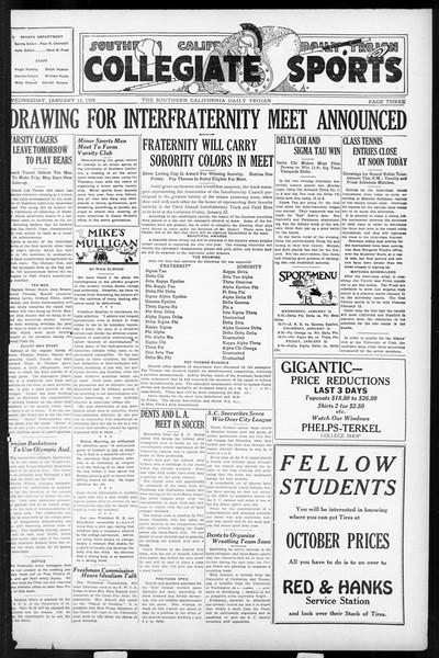 Daily Trojan, Vol. 17, No. 70, January 13, 1926