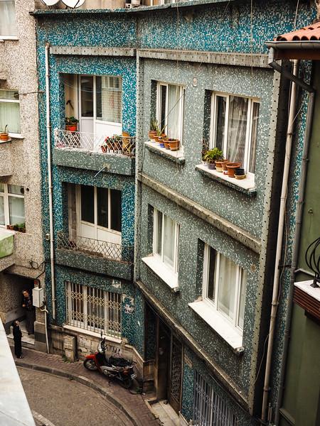Beautiful mosaic building