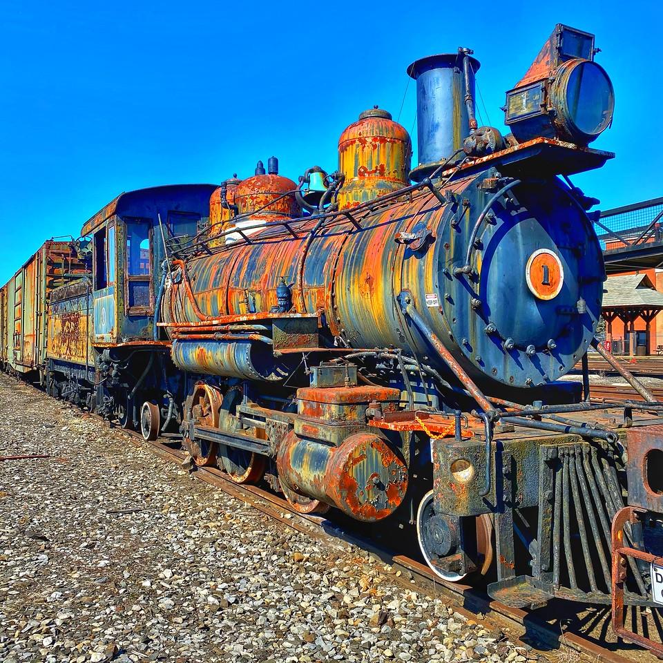 Rusting steam engine - Steamtown national historical site - scranton pennsylvania