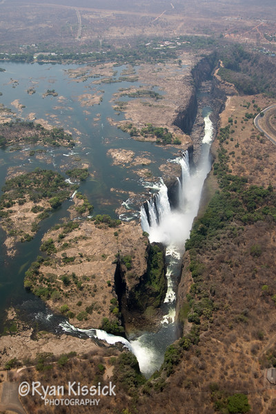 Victoria Falls, as seen from our magnificent helicopter ride