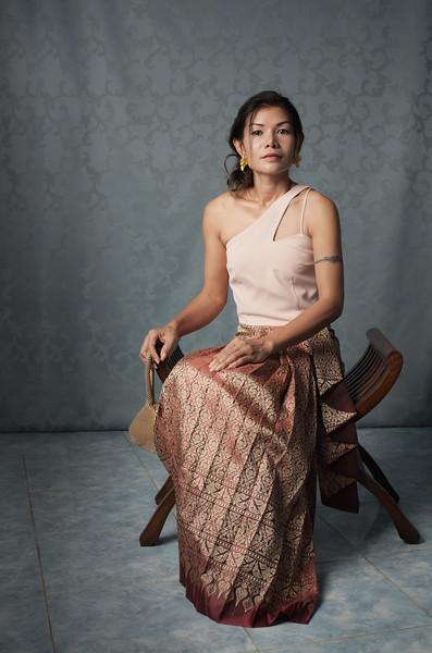 Tae Thai dress shoot - sitting
