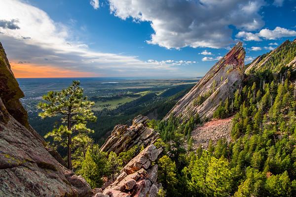 Boulder Flatiron Morning