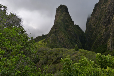 'Iao Needle on a Cloudy Day December 2013, Cynthia Meyer, Maui, Hawaii