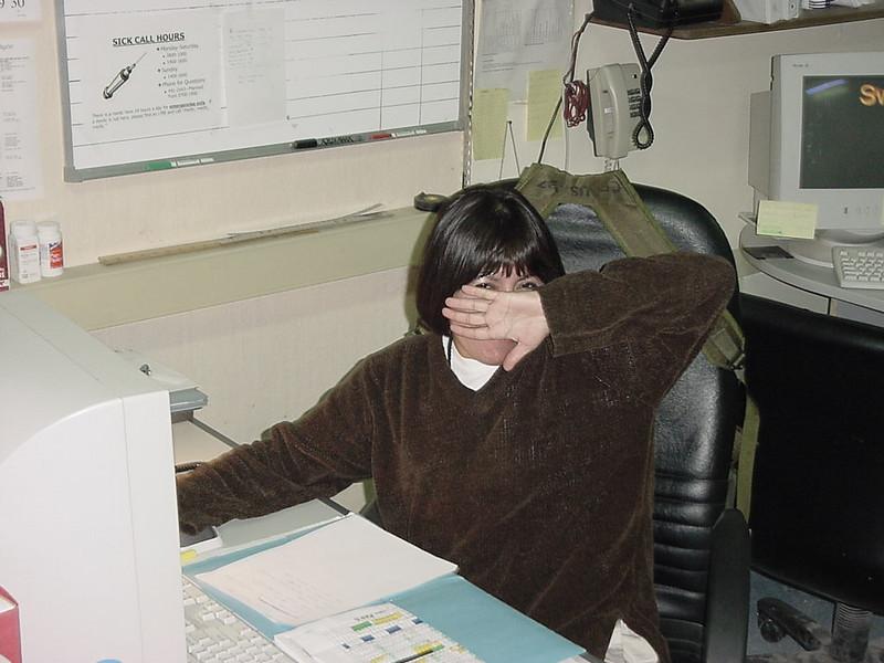 Aida Hiding her Face.JPG