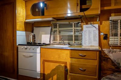1954 Yellowstone 18' Travel Trailer Interior Kitchen