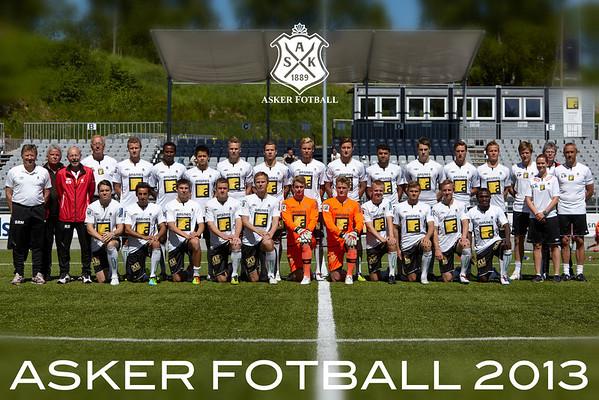 Asker Fotball 2013 lagbilde
