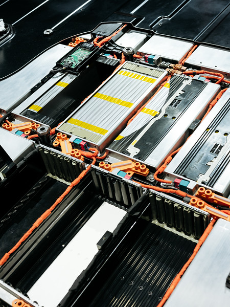 Audi E-Tron high voltage battery - Samuel Zeller for the New York Times