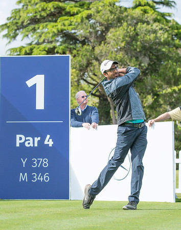 Yashas Chandra from India teeing off on Practice Day 1 of the Asia-Pacific Amateur Championship tournament 2017 held at Royal Wellington Golf Club, in Heretaunga, Upper Hutt, New Zealand from 26 - 29 October 2017. Copyright John Mathews 2017.   www.megasportmedia.co.nz