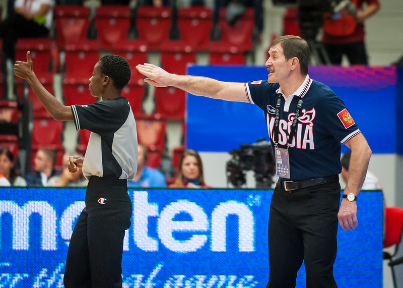 Team Russia head coach Boris Sokolovskiy