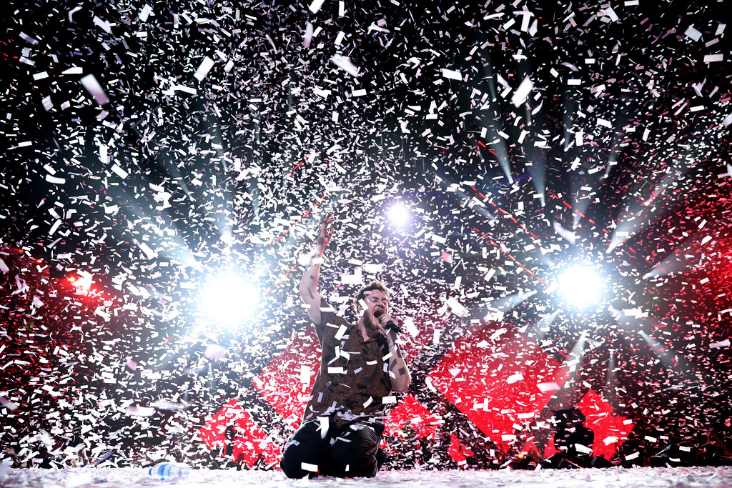 . Imagine Dragons perform during the EA Sports Bowl at The Armory on Thursday, Feb. 1, 2018, in Minneapolis. Imagine Dragons will perform June 17 at Blossom Music Center.  For more information, visit livenation.com/venues/14481/blossom-music-center. (Photo by Omar Vega/Invision/AP)