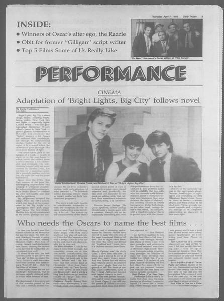 Daily Trojan, Vol. 106, No. 55, April 07, 1988