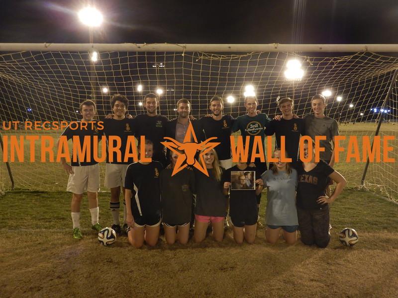 Fall 2015 Soccer Coed C Runner Up Satly Dogs FC