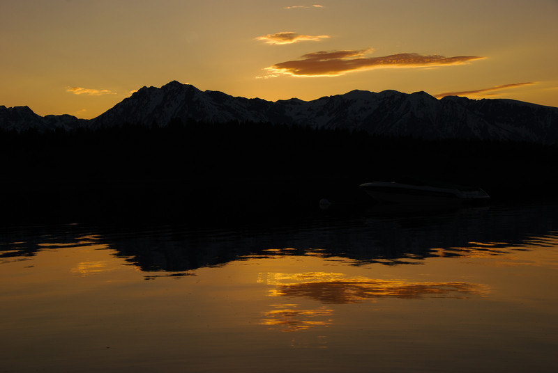 Sunset over Jackson Lake