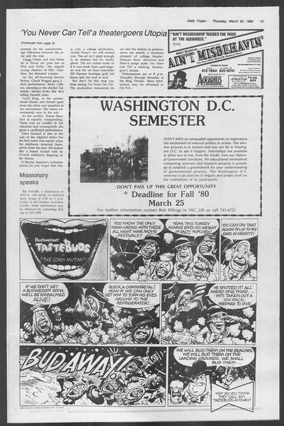 Daily Trojan, Vol. 88, No. 32, March 20, 1980