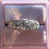 1.70ctw Edwardian 5-stone Old European Cut Diamond Band 8