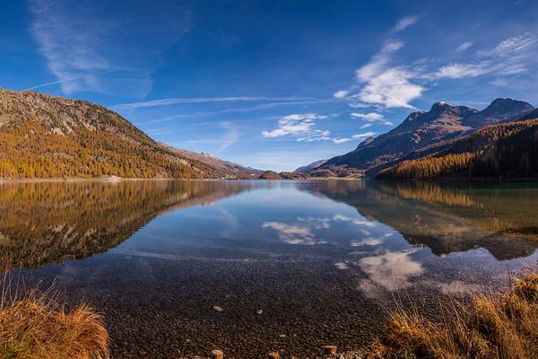 Herbstbilder vom Silvaplaner See im Engadin