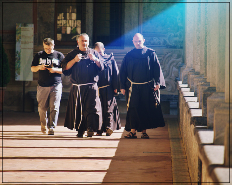 Monks in the Cloister