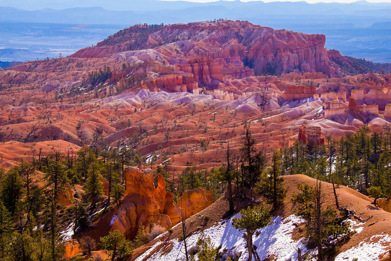 Distant formations at Bryce Canyon, Utah