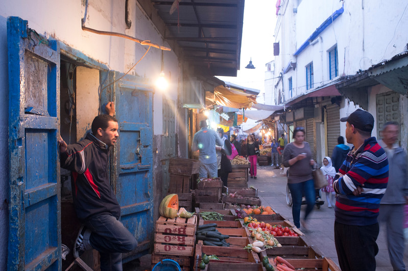 Shops in the Medina (old town), Rabat, Morocco.