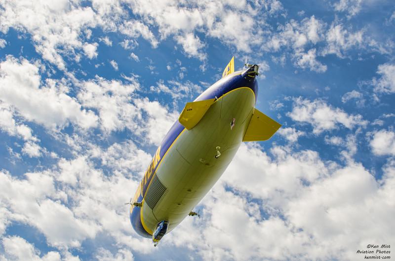"Goodyear Zeppelin NT ""Wingfoot One"" at Oshkosh 2015."
