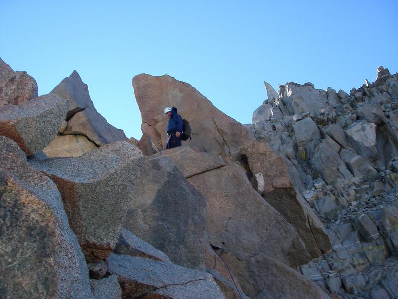 ... and climbing up towards Starlight Peak (14,200 ft = 4.328 m).