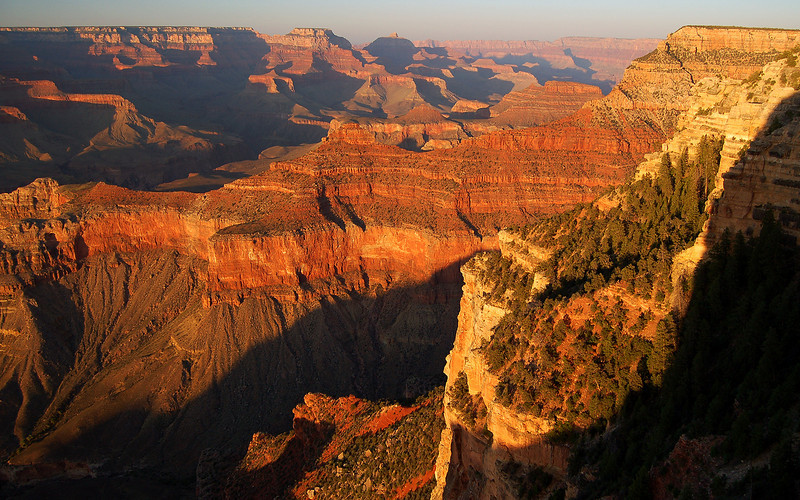 Sunset from Yavapai Point at the South Rim of the Grand Canyon.