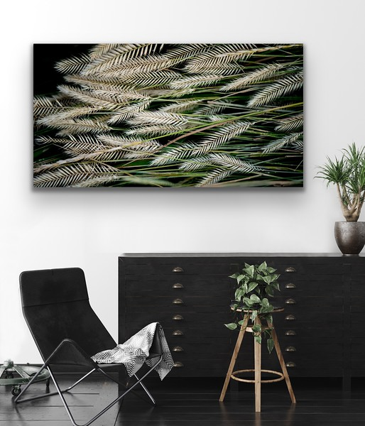 Grass Art Canvas Wrap and Float Mount Metal Print
