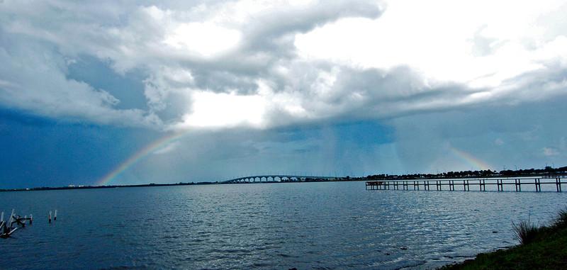 Rainbow on the coast