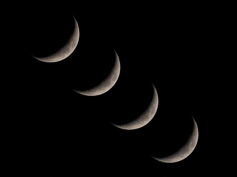 Crescent moon quad
