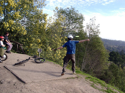 Unicycle Disc Golf