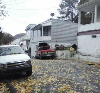 Pickup Truck Crashes into Home, Garage, Lincoln Street, Tamaqua (10-22-2014)