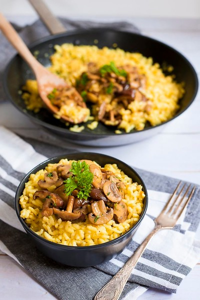 Vegan Italian Recipes - Mushroom Risotto