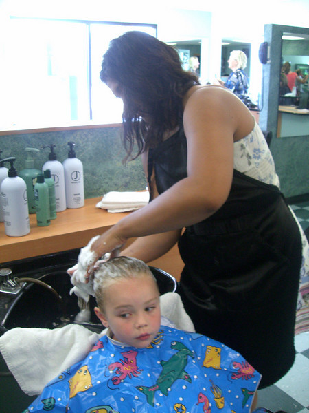 Her very first haircut! 7.12.2008