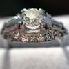 1.18ctw Art Deco Princess Halo Ring 31