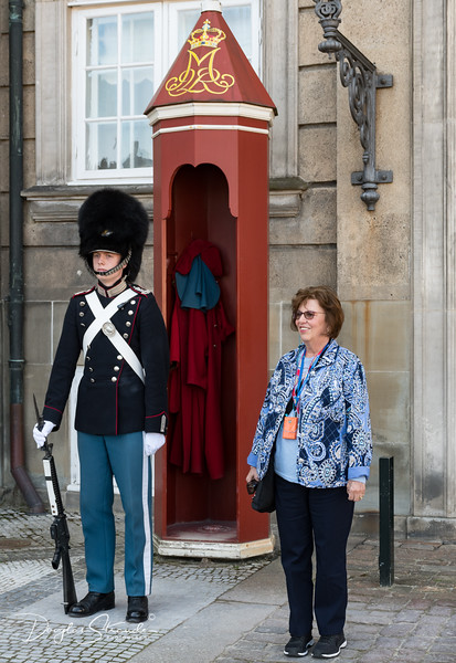 Louise with the Guard